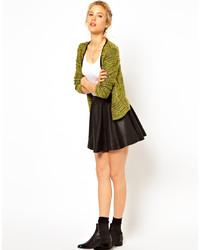 Asos Skater Skirt In Leather