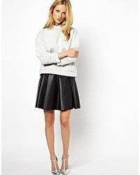Whistlesnotgoogle Whistles Skater Skirt In Pu Black