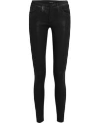 J Brand 620 Super Skinny Coated Mid Rise Jeans