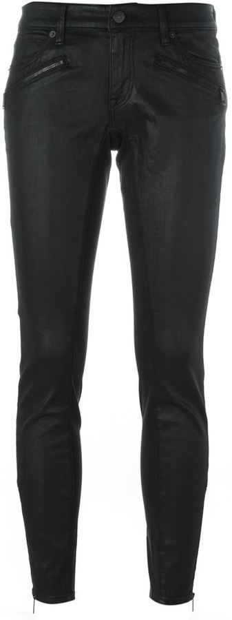Burberry Brit Coated Skinny Jeans