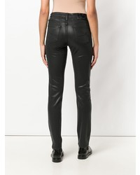 Jacob Cohen Slim Fit Leather Look Jeans