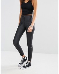Missguided Vice High Waisted Super Stretch Coated Skinny Jean