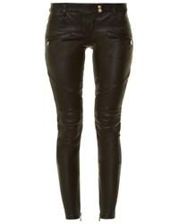 Balmain Skinny Leg Leather Biker Trousers