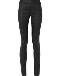 Akris Fria Leather Skinny Pants