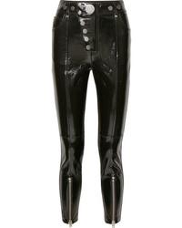 Alexander Wang Glossed Leather Skinny Pants