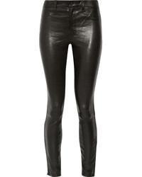 J Brand 8001 Leather Skinny Pants Black