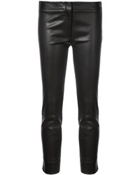 Derek Lam Leather Drake Crop Trouser