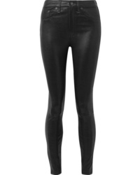 Rag & Bone Leather High Rise Skinny Pants