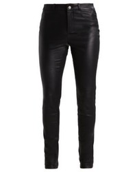 Set Leather Trousers Black