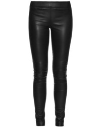 The Row Moto Stretch Leather Leggings