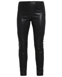 Tigha Nori Leather Trousers Black