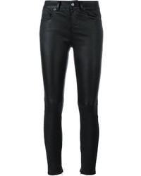 Saint Laurent Slim Fit Leather Trousers