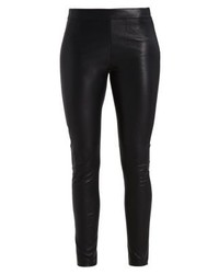 Tommy Hilfiger Vivianne Leather Trousers Black