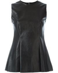 Fake leather sleeveless top medium 690511