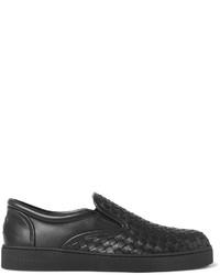 Bottega Veneta Dodger Intrecciato Leather Slip On Sneakers