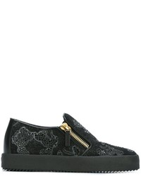 Giuseppe Zanotti Design Mickey Mouse Slip On Sneakers
