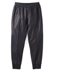 Black Leather Sweatpants