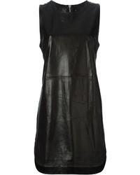 Black Leather Tank Dress