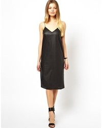 Asos Leather Look Cami Dress Black