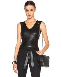 Maison Margiela Stretch Leather Jersey Bodysuit