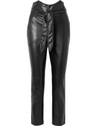 Nanushka Ethan Vegan Leather Straight Leg Pants