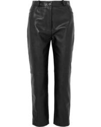 Stella McCartney Faux Leather Straight Leg Pants