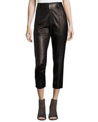 Vince Leather Carrot Pants Black