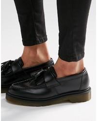 Dr. Martens Dr Martens Adrian Black Leather Tassel Loafer Flat Shoes