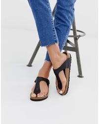 Birkenstock Gizeh Toepost Sandals In Black