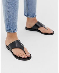 Other Stories T Bar Leather Sandals In Black