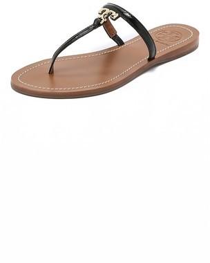 fee85205b ... Tory Burch T Logo Flat Thong Sandals ...