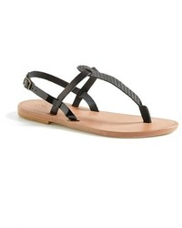 7174284ef00e Women s Black Leather Thong Sandals by Joie