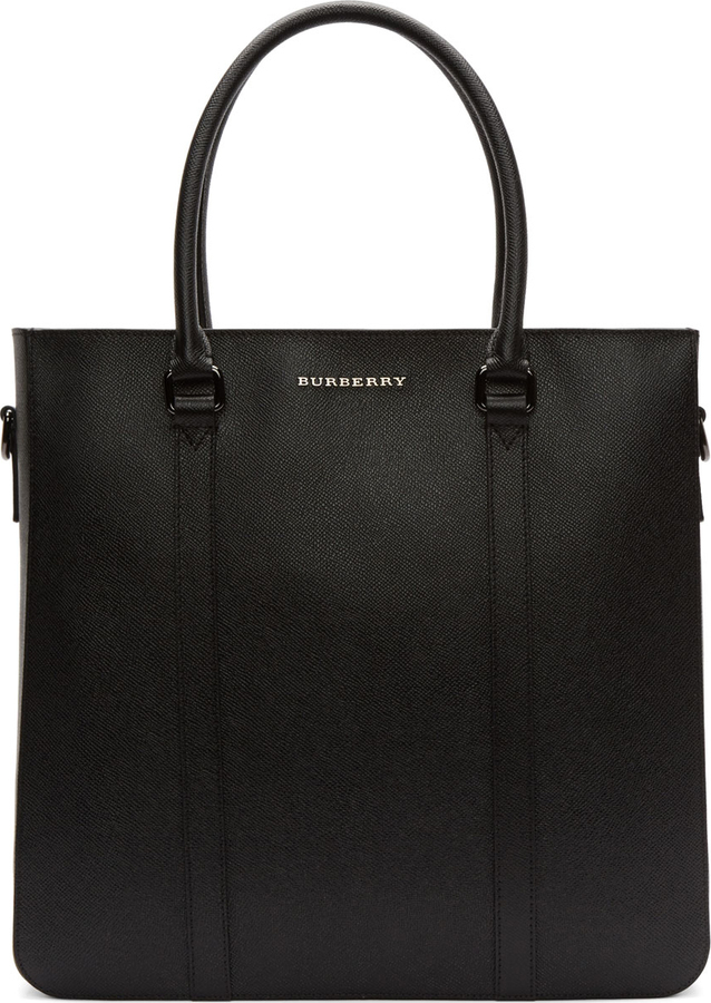 Burberry London Black Leather Kenneth Tote Bag   Where to buy   how ... fe33719c26