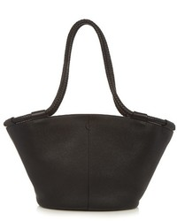 The Row Market Braided Handle Grained Leather Tote