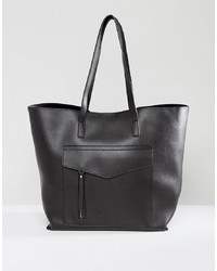 New Look Minimal Pocket Shopper Bag
