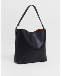 ASOS DESIGN Oversized Structured Shopper Bag With Contrast Detail