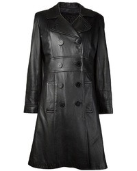 Black Leather Trenchcoat