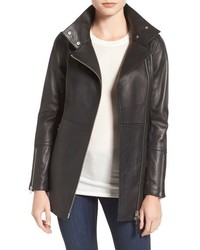 Mackage Leather Moto Trench Coat