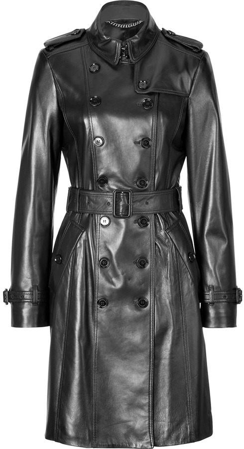 Burberry London Leather Elstree Trench Coat | Where to buy & how ...