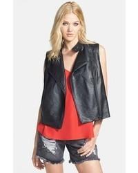 Leith Faux Leather Moto Vest
