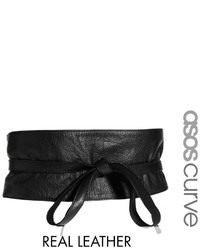 Asos Curve Leather Obi Waist Belt