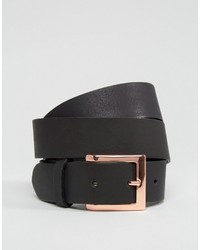 Leather rose gold buckle waist and hip belt medium 833005