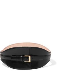 Leather waist belt black medium 1210889