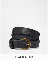 Asos Leather Waist Belt With Cross Detail