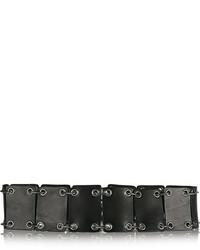 Saint Laurent Paneled Leather Waist Belt