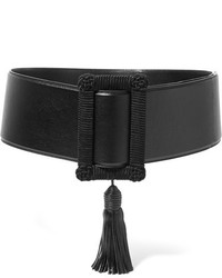 Saint Laurent Tasseled Leather Waist Belt Black