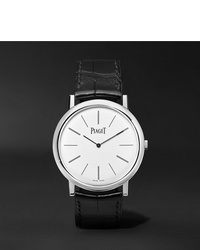 Piaget Altiplano 38mm 18 Karat White Gold And Alligator Watch Ref No G0a29112