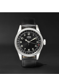 Big crown original pointer date 40mm stainless steel and leather watch medium 1245640