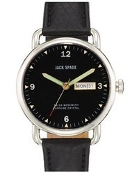 Jack Spade Buckner Leather Strap Watch 42mm