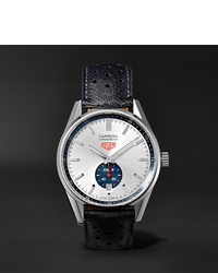 Tag Heuer Carrera Automatic Chronograph 39mm Polished Steel And Leather Watch Ref No Wv5111fc6350